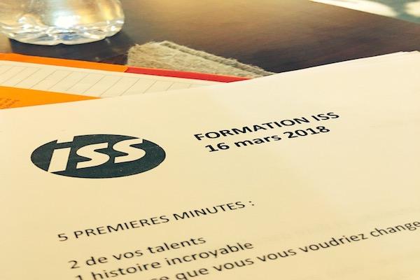 ISS Formation Prise de parole Julien DE Ruyck
