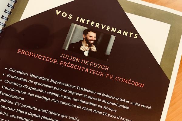 Formation prise de parole spitch Julien De Ruyck